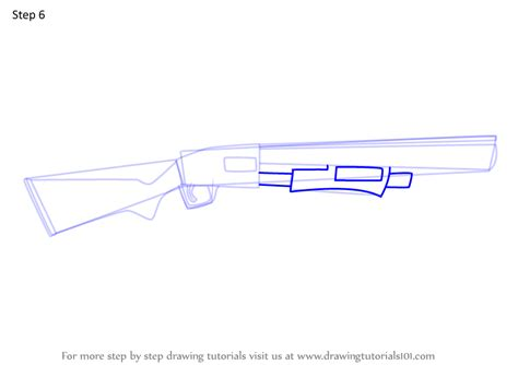 Shotgun-Question How To Draw A Pump Shotgun Step By Step.