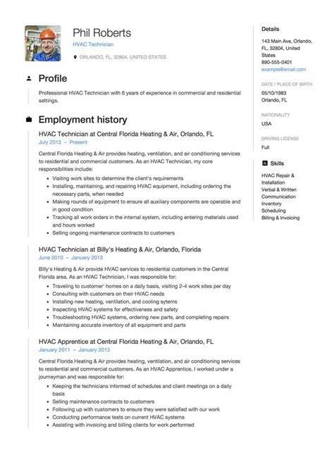 how to make resume that stands out hvac resume that stands out best resume