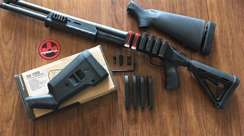 Magpul-Question How To Install Magpul Stock On Mossberg 500.