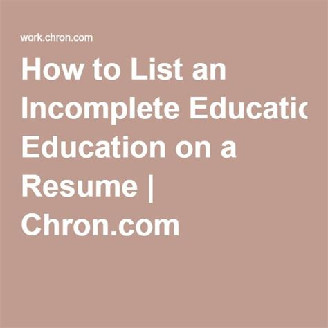 Resume Resume Example Incomplete Degree resume college not completed combination sample administration student services screenshot