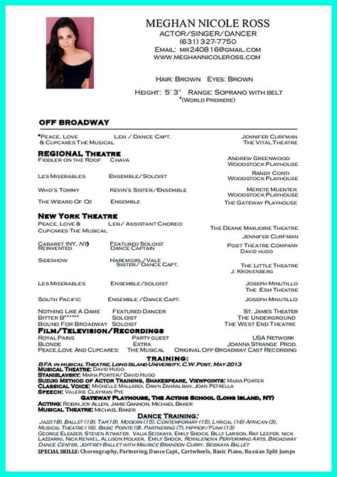 build a dance resume how to make a dance resumes template