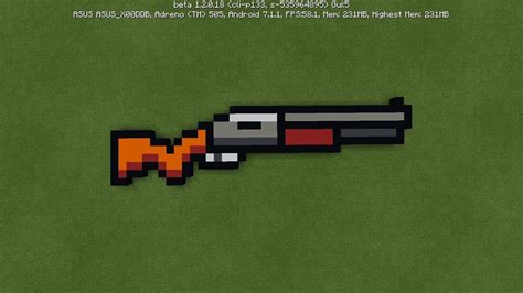 Shotgun-Question How To Make A Shotgun In Minecraft Pixel Art.