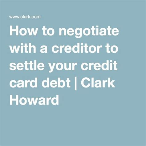Credit Card Balance Says Cr How To Negotiate And Settle Your Credit Card Debt On Your Own