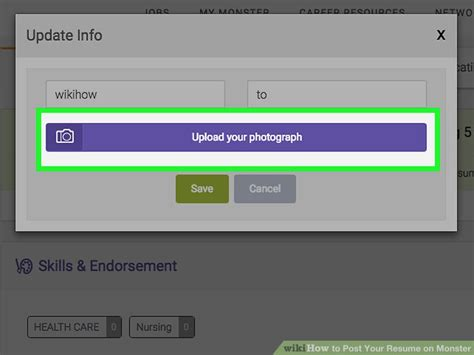 functional resume monster how to post your resume on monster 15 steps wikihow