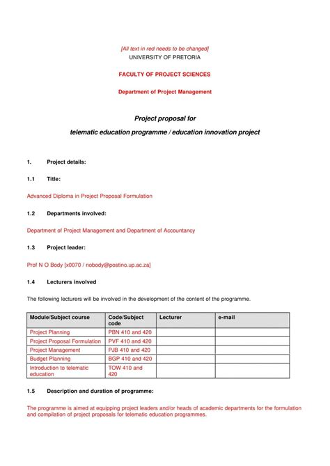 How To Write A Proposal Email Project Proposal Template How To Write Proposals