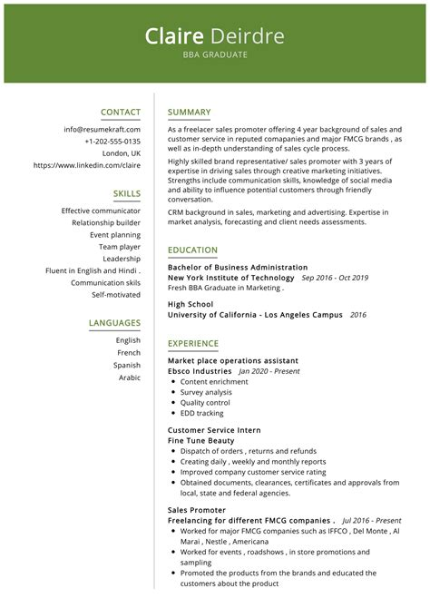 How To Create A Professional Resume For Freshers Resume Template For Fresher 10 Free Word Excel Pdf