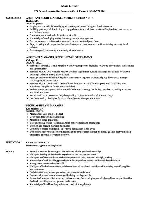 How To Build A Retail Resume Retail Assistant Manager Resume Template Dayjob