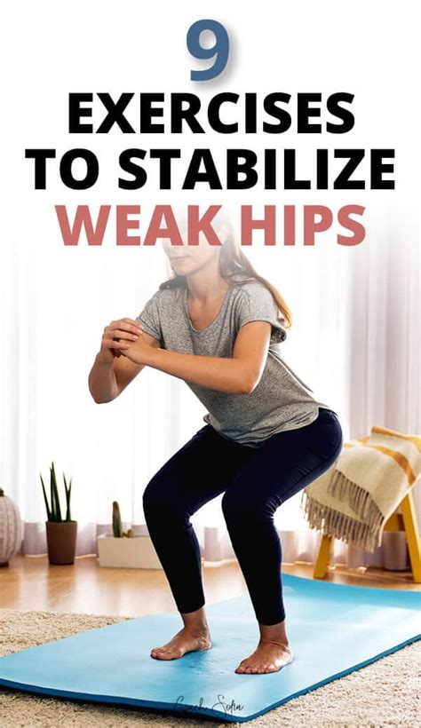 how to strengthen weak hips exercises workout