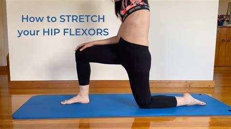 how to stretch your hip flexor videos infantiles youtube