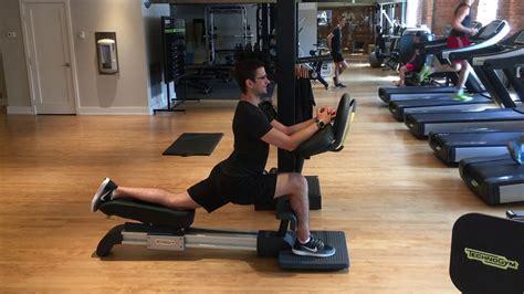 how to use the life fitness hip flexor machine standing leg