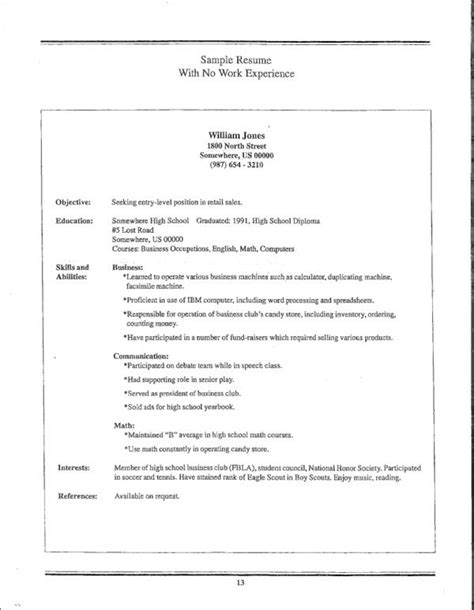 how to write a resume with no experience how to write a resume when you have