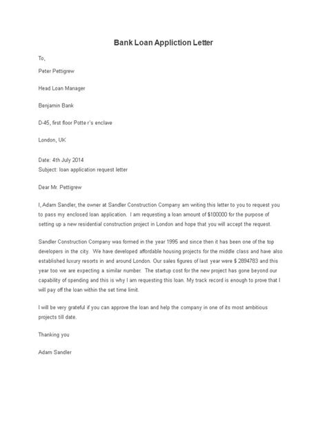 application letter for a bank loan   letters of reference sampleapplication letter for a bank loan