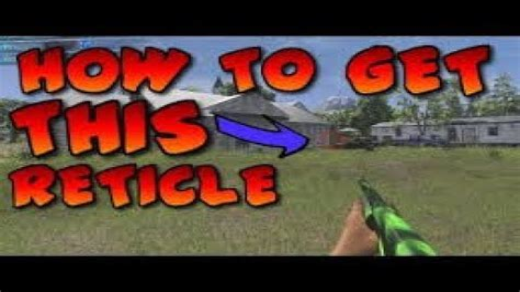Shotgun-Question How Tto Change The Site For H1z1 Shotgun First Person.