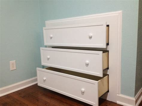 How To Build A Dresser In The Wall