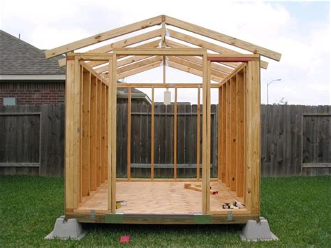 How To Build A Garden Shed On Skids