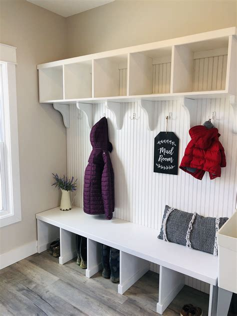 How To Build A Mudroom Bench With Cubbies