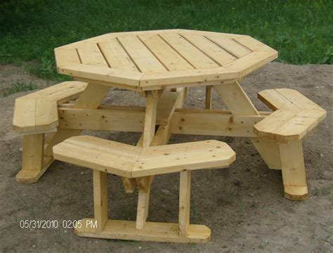 How To Build A Octagon Picnic Table