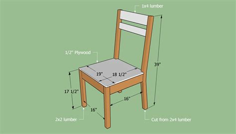 How To Build A Wooden Chair Blueprints