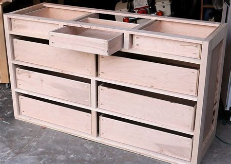 How To Build Dresser Drawers Plans