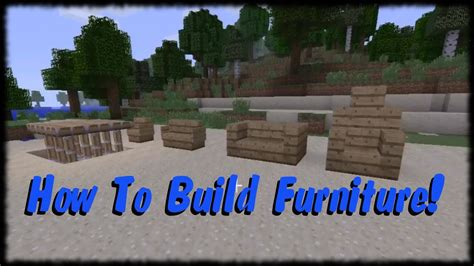 How To Build Furniture In Minecraft Xbox One