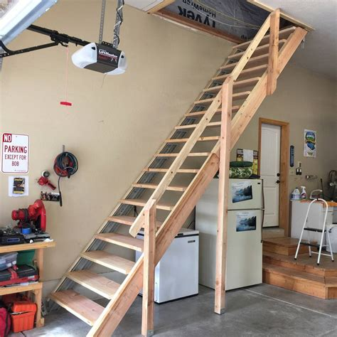 How To Build Garage Stair Railing