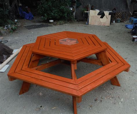 How To Build Hexagon Picnic Table