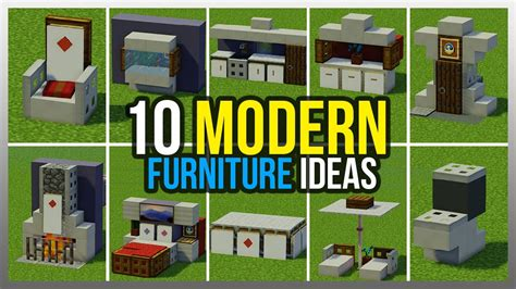How To Build Modern Furniture In Minecraft