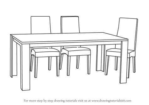 How To Draw A Dining Room Table