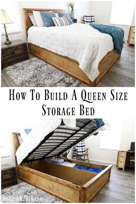 How To Make A Bed Frame With Storage