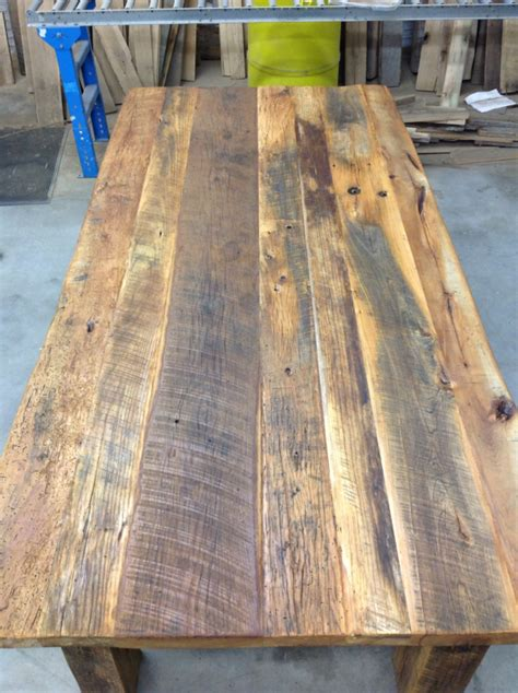 How To Make A Reclaimed Wood Table Top