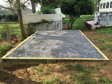 How To Make A Storage Shed Foundation