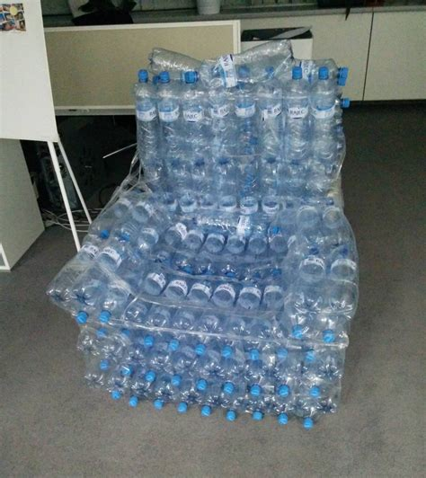 How To Make Chair From Plastic Bottles