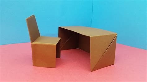 How To Make Paper Chair And Table