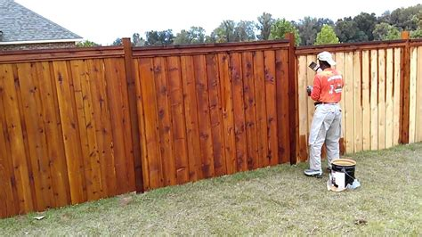 How To Stain Fence Boards