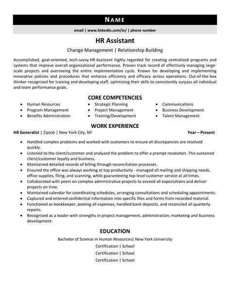 sample hr assistant resume hr consultant resume samples full size