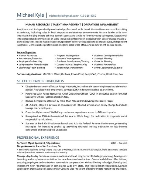 hr operations manager resume sample resume template example