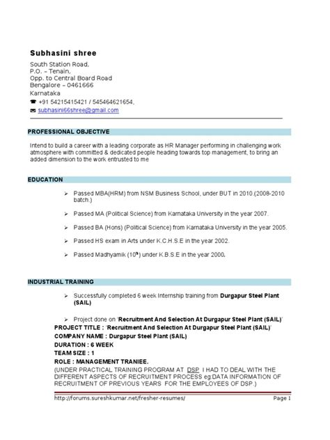 hr resume sample in word format 29 hr welcome letter templates free sample example