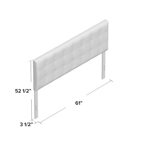 Huck Square Stitched Queen Upholstered Panel Headboard