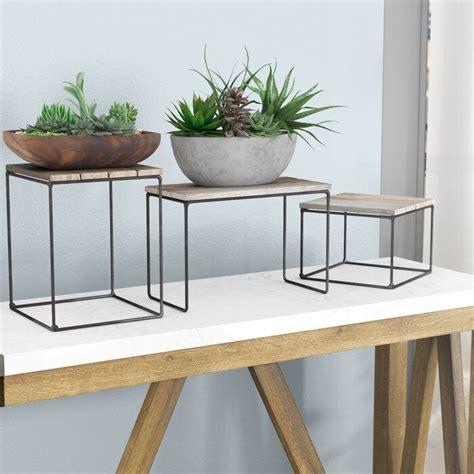 Hughes Top Riser 3 Piece Nesting Plant/Telephone Table