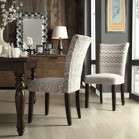 Hurst Chevron Print Parson Chair (Set of 2)
