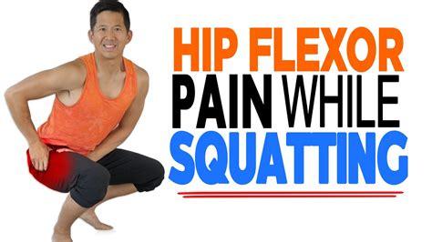 hurt hip flexor from squatting toilet position