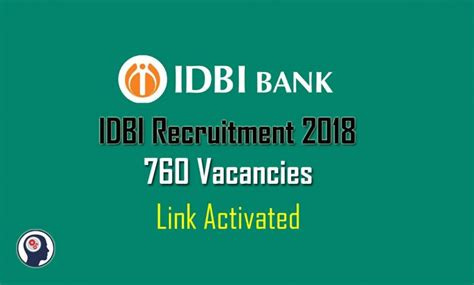Credit Card Apply Online Idbi Idbi Bank Recruitment 2018 Apply Online For 760