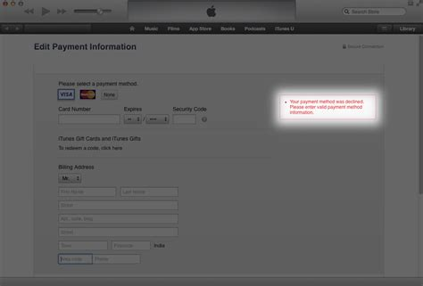 Credit Card Authorization Apple If You Are Getting Error While Updating Your Credit Card