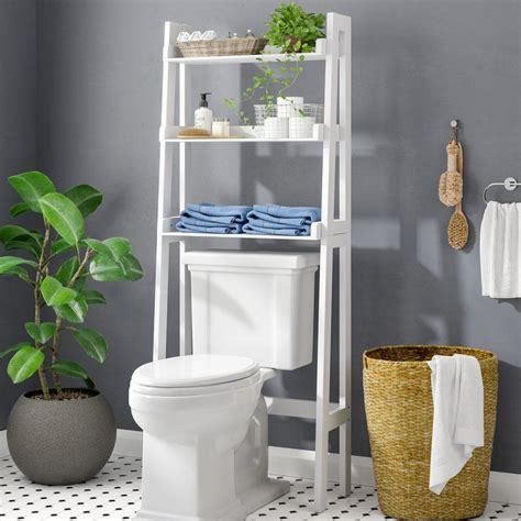 Ilovici Ladder Spacesaver 24.9 W x 61.5 H Over the Toilet