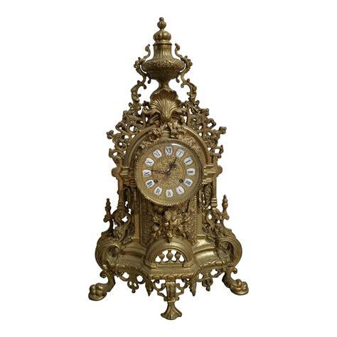 Brass Imperial Brass Mantle Clock.