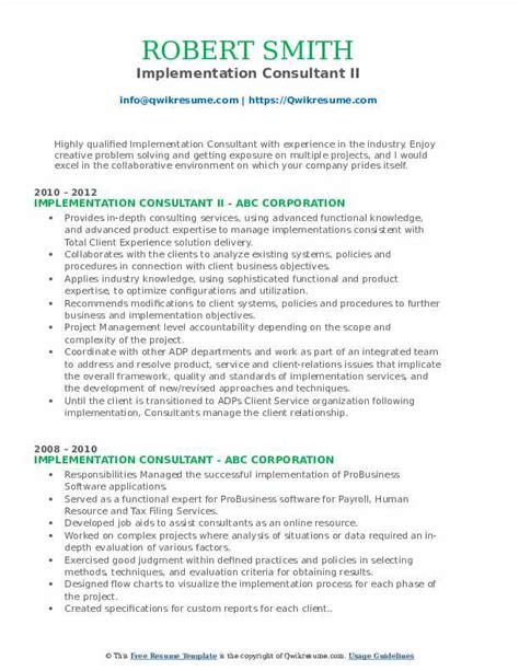 implementation consultant resume sample implementation consultant resume example mightyrecruiter - Pharmacist Consultant Resume