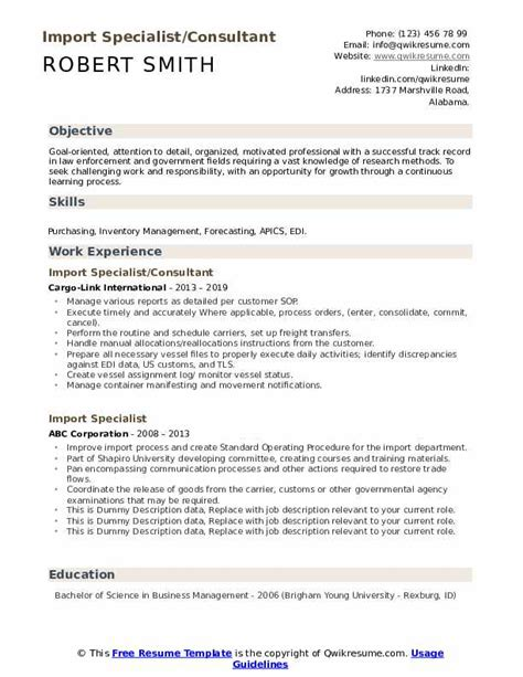 import specialist resume mbe certification application illinois