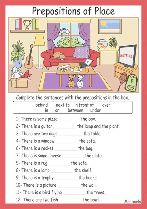 in on at preposition exercises place and time pdf
