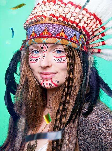 Indianer Bemalung Gesicht