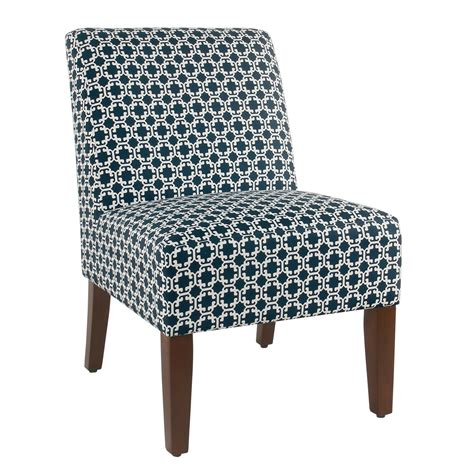 Indigo Lattice Slipper Chair